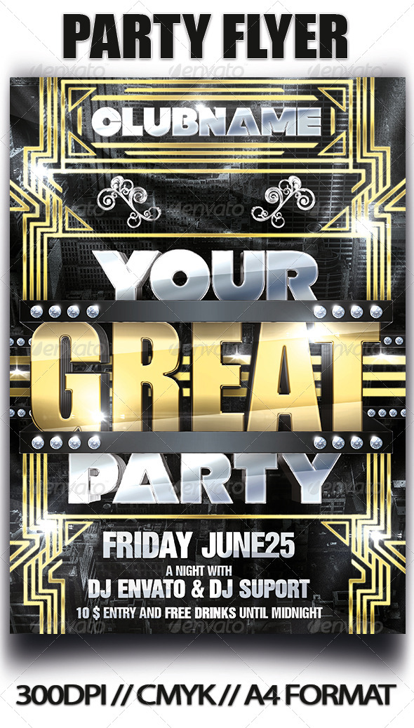 GraphicRiver Party flyer 4632504