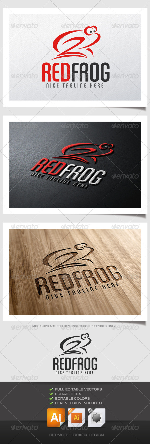 GraphicRiver Red Frog Logo 4632695