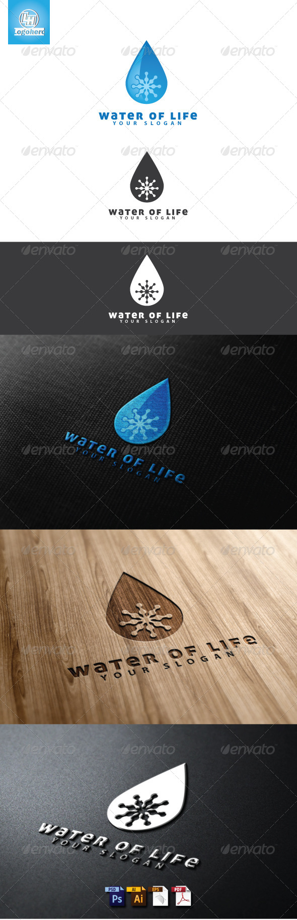 GraphicRiver Water of Life Logo Template 4632966