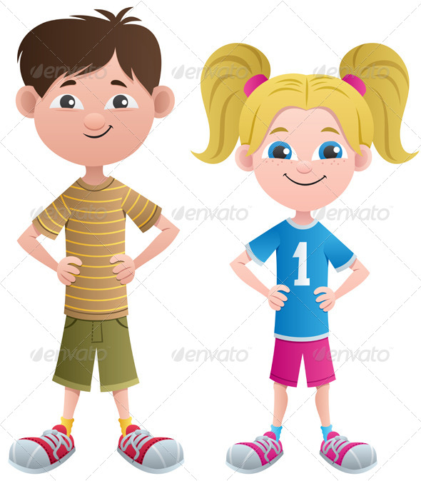 GraphicRiver Boy and Girl 4633054