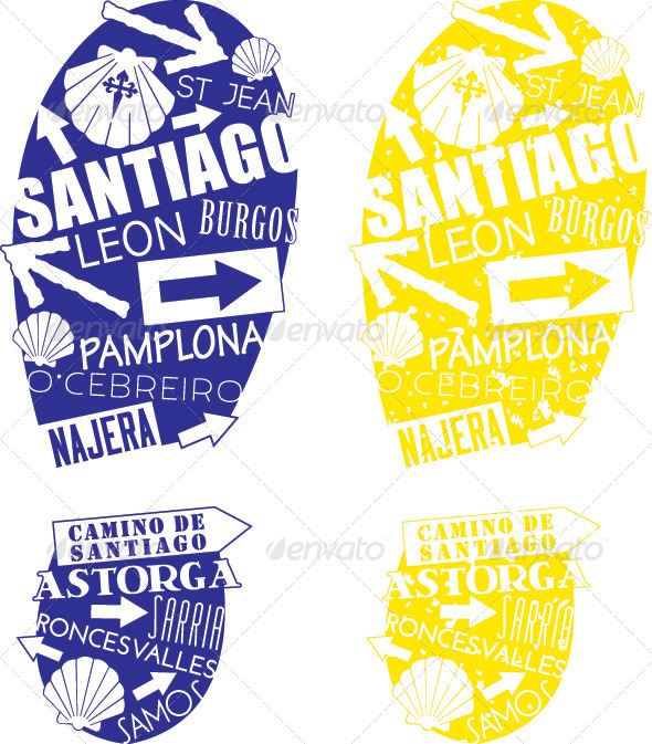 GraphicRiver Camino de Santiago Footprints 4633058