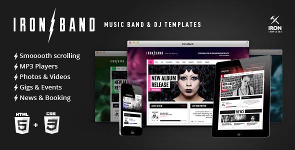 ThemeForest IronBand Music Band & DJ template 4633115