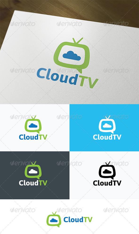 GraphicRiver Cloud TV Logo 4633536