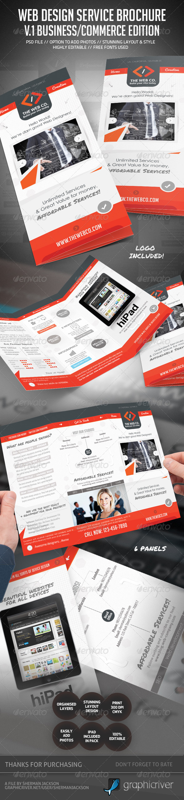 GraphicRiver Web Service & Business Brochure V.1 4633593