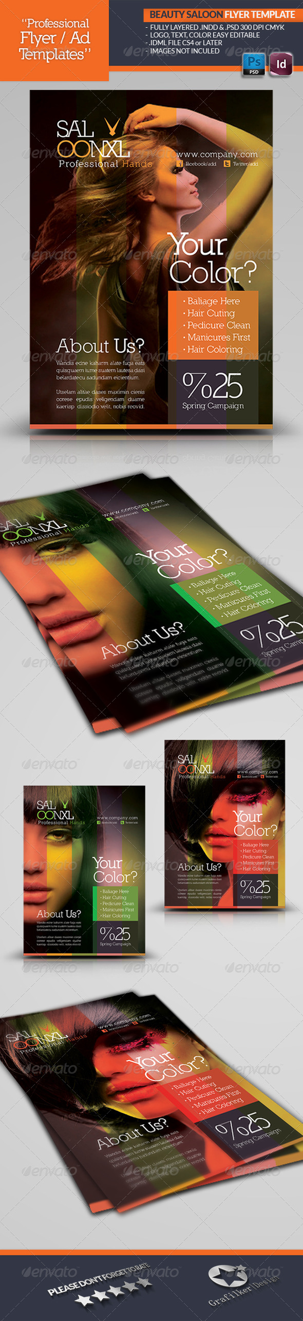 GraphicRiver Beauty Saloon Flyer Template 4567440