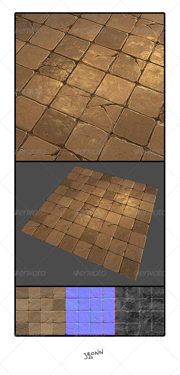 3DOcean Mud Stone Floor Tile 01 4633880