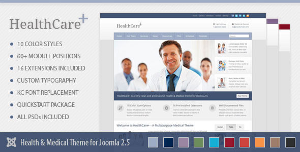ThemeForest HealthCare& Medical & Health Joomla Theme 4633931