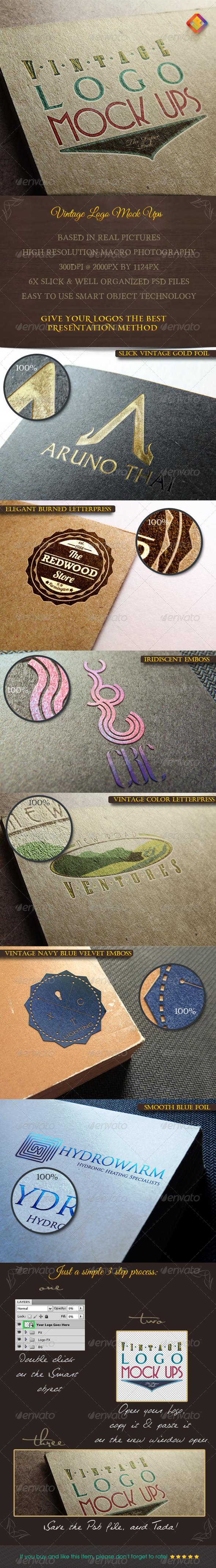 Vintage Logo Mock Ups - Logo Product Mock-Ups