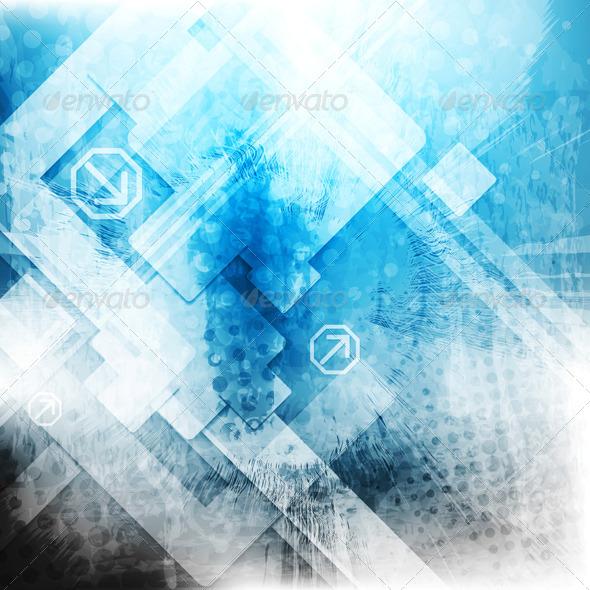 GraphicRiver Vector Blue Tech Grunge Backdrop 4634442