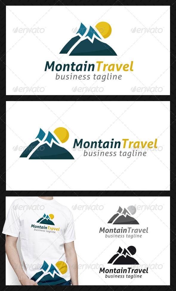 GraphicRiver Mountain Travel Logo Template 4634587