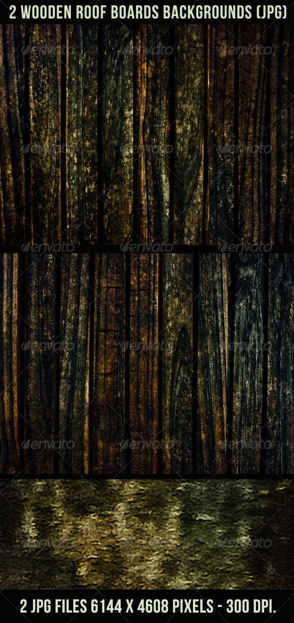GraphicRiver 2 Wooden Roof Boards Backgrounds 4634634
