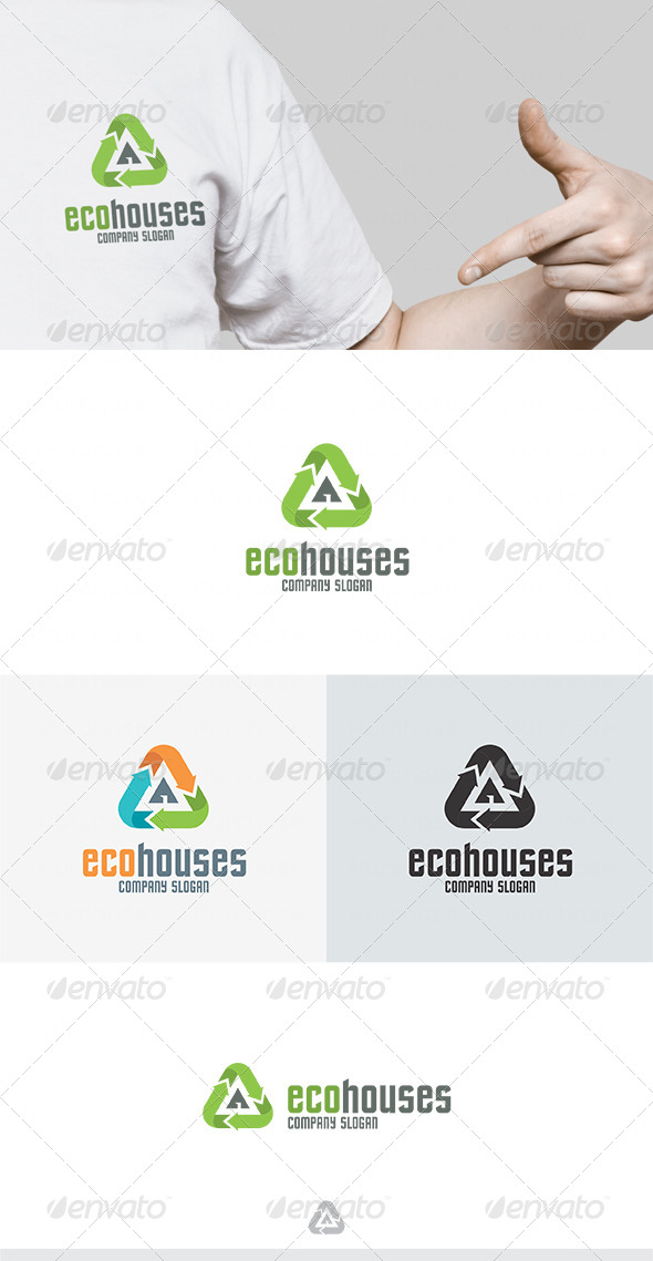 Eco Houses Logo - Buildings Logo Templates