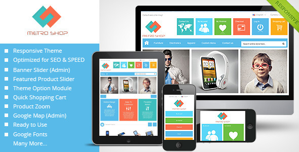 ThemeForest Metroshop Responsive Magento Theme 4602894