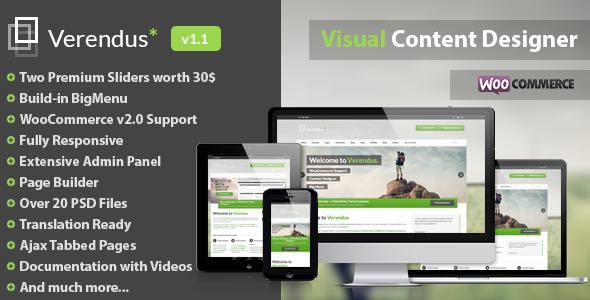 ThemeForest Verendus Corporate Multi-Purpose WordPress Theme 4565679
