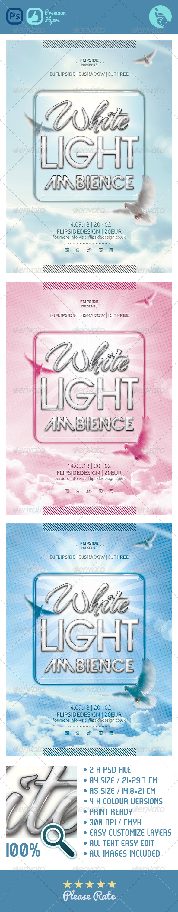 GraphicRiver White Light Ambient Flyer 4634836