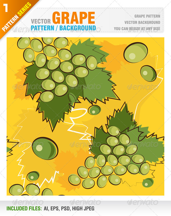 GraphicRiver Grape Pattern Background 4634909