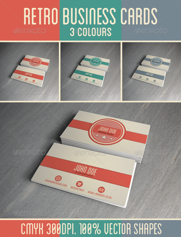 GraphicRiver Retro Business Card Template 4635344