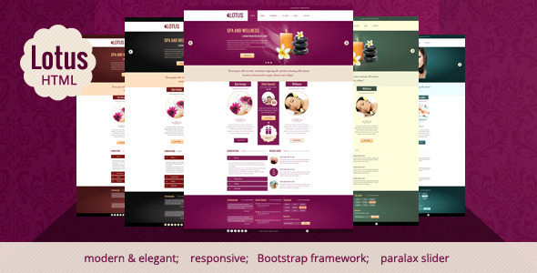 ThemeForest Lotus Spa & Wellness HTML Responsive Template 4635420