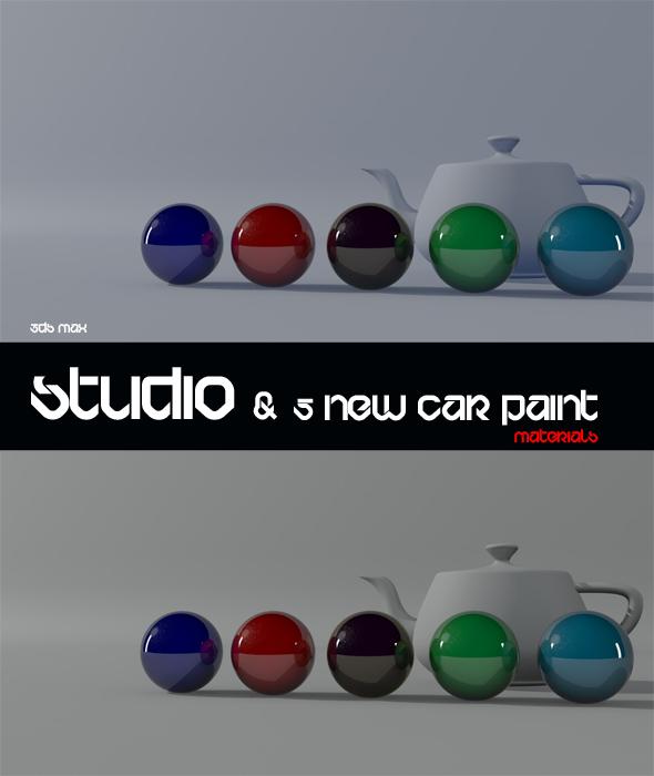 3DOcean 3ds Max Studio & 5 Car Modified Materials 477732