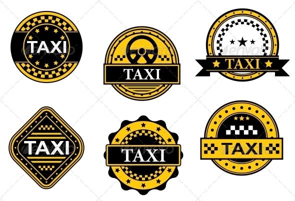 GraphicRiver Taxi Service Symbols 4635888