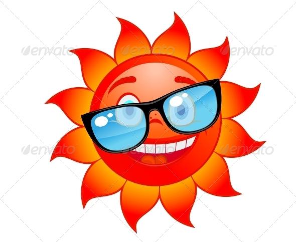 GraphicRiver Happy Sun in Sunglasses 4635912