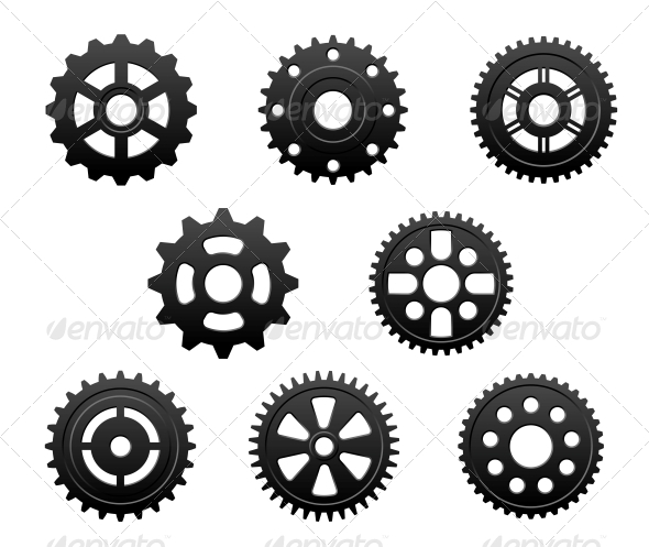 GraphicRiver Pinions and Gears Set 4636096