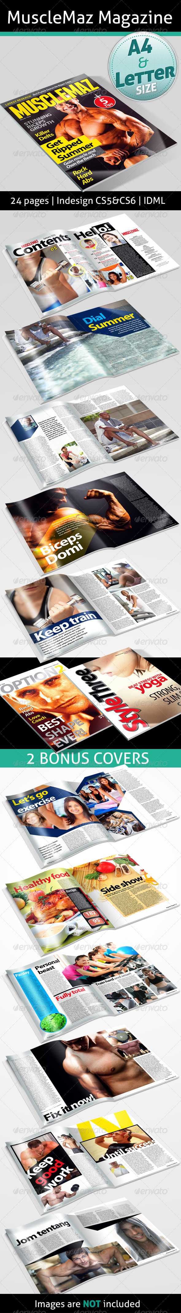 GraphicRiver MuscleMaz Magazine 4636124