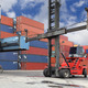 Forklift working in container yard - PhotoDune Item for Sale