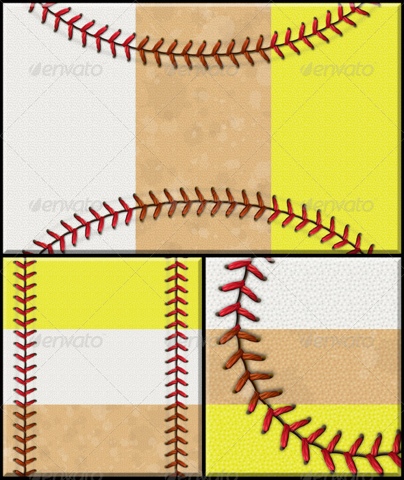 GraphicRiver Baseball Softball Background Set 4612419