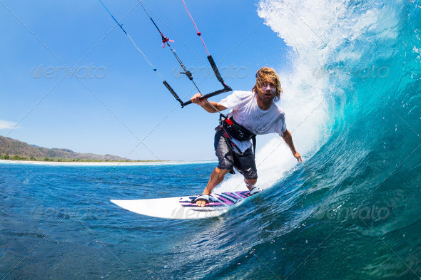Kite Surfing - Stock Photo - Images