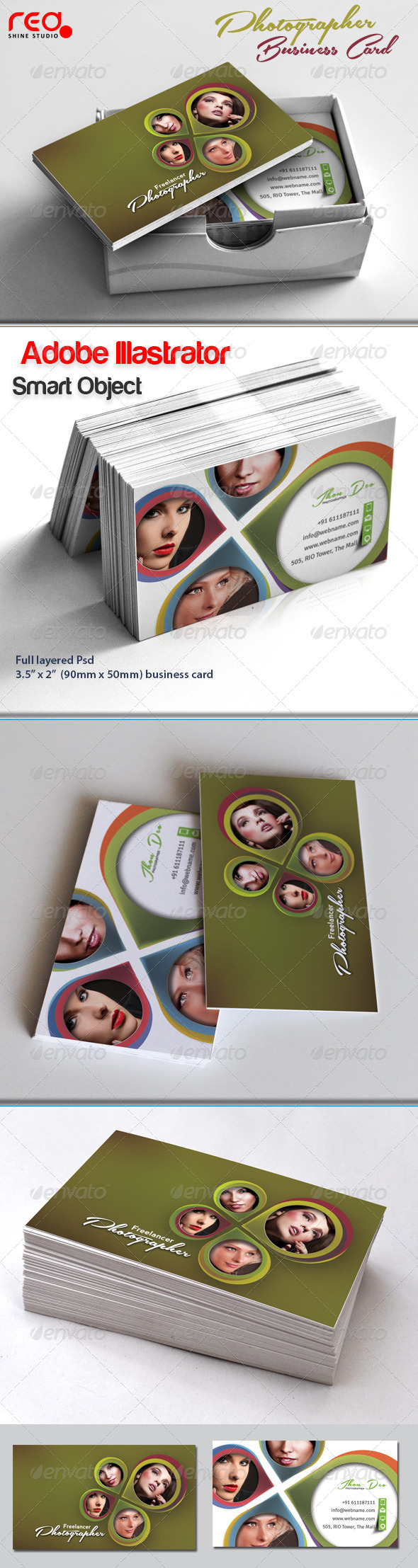 GraphicRiver Photographer Business Card 4637120