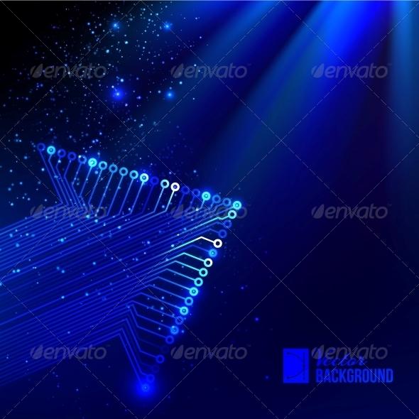 GraphicRiver Arrow Blue Background 4637199