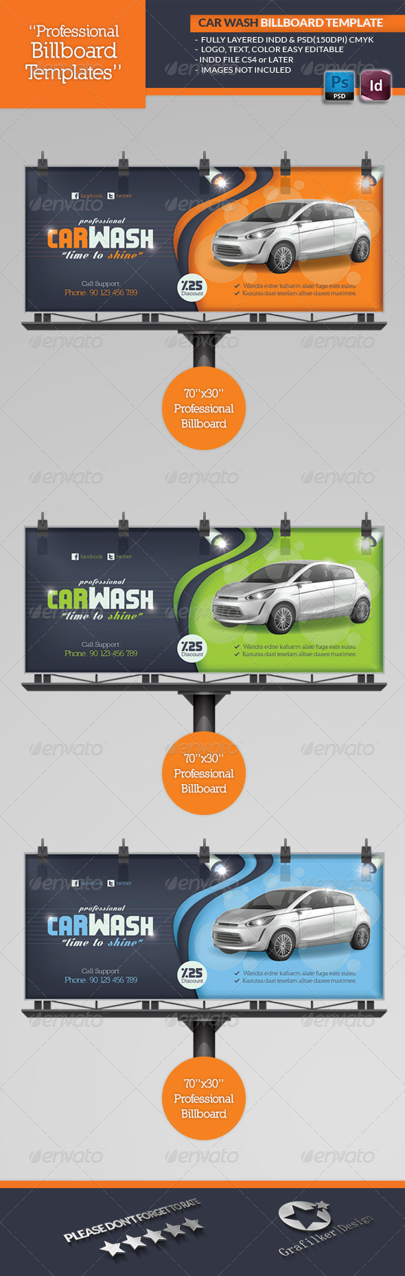 GraphicRiver Car Wash Billboard Template 4637393