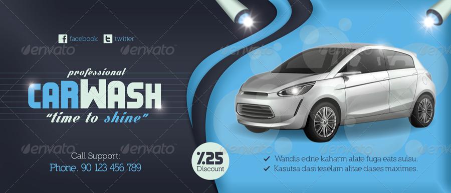 Car Wash Billboard Mockup - Vinyl decals car wash