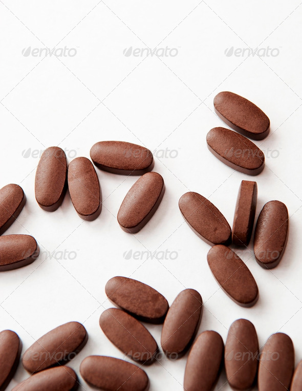 Pills on White - Stock Photo - Images
