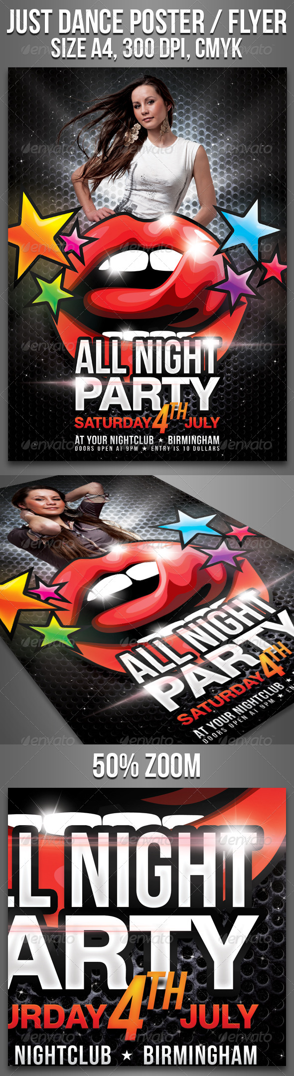 GraphicRiver A4 All Night Party Club Flyer 4637817