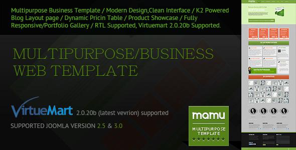 Mamu - Responsive Multipurpose Joomla Template