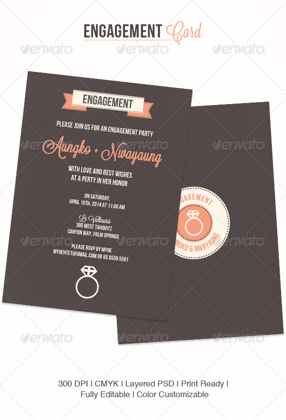GraphicRiver Engagement Card 4638307
