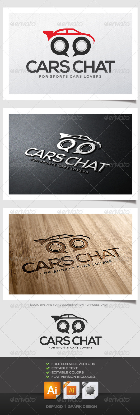 GraphicRiver Cars Chat Logo 4638369