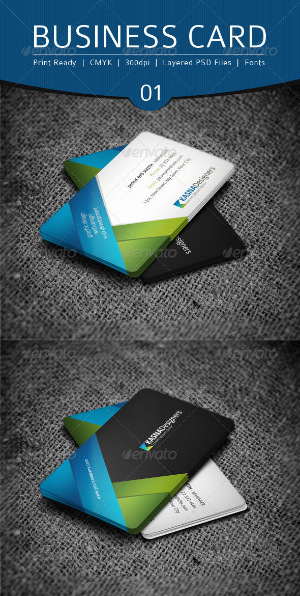 GraphicRiver Business Card Design 1 4638492