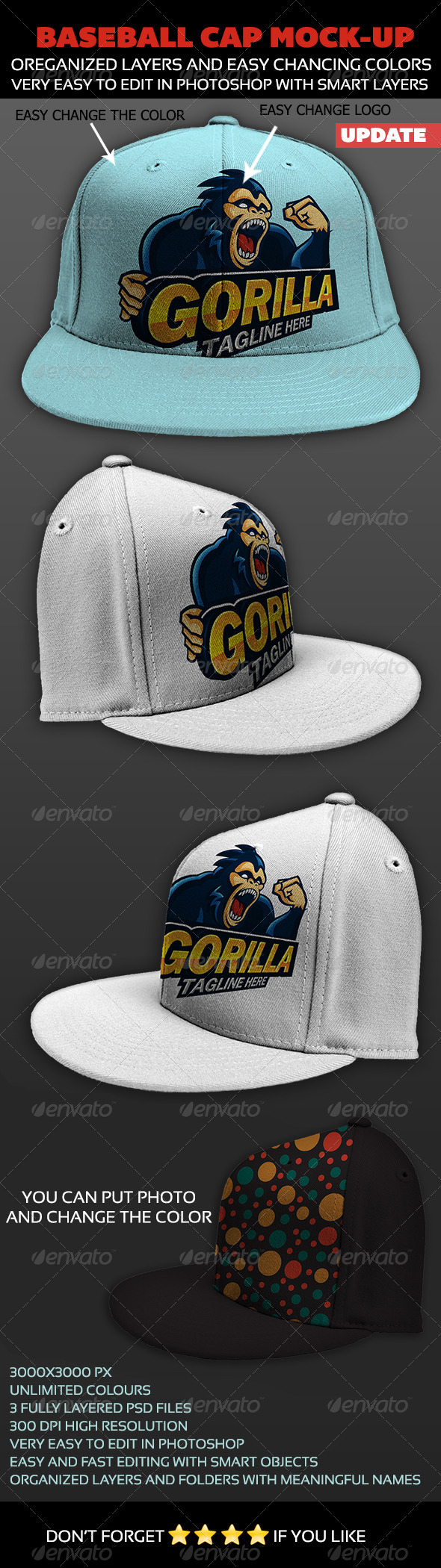 GraphicRiver Baseball Cap Mock-up 4564637