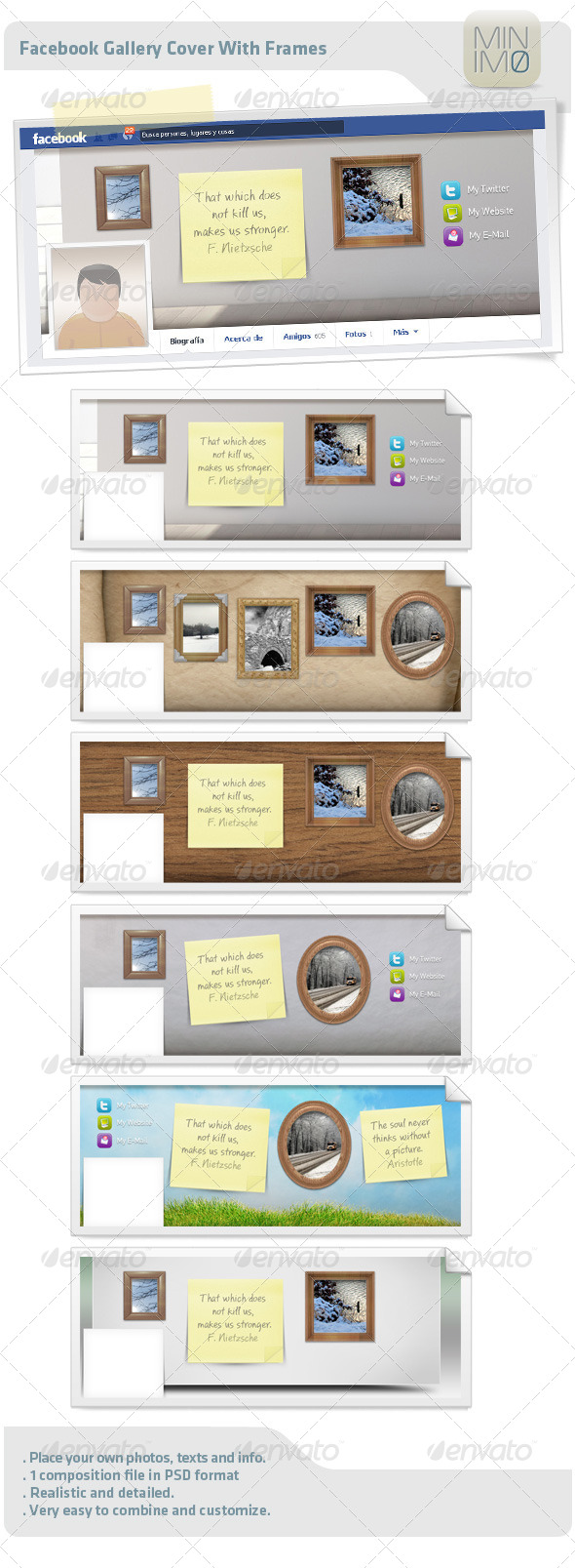 GraphicRiver Fb Gallery Cover With Frames 4614734