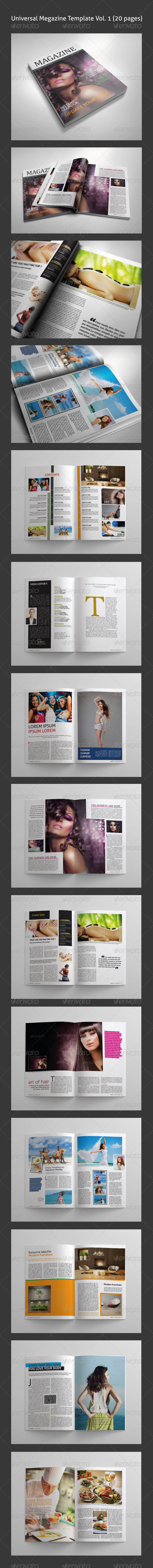 GraphicRiver Universal Magazine template Vol 01 20 pages 4566236