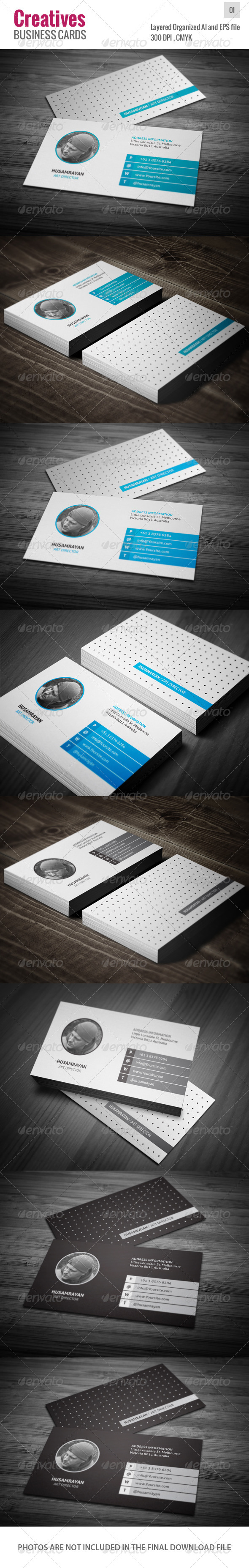 GraphicRiver Creatives Business Cards v.01 4638615