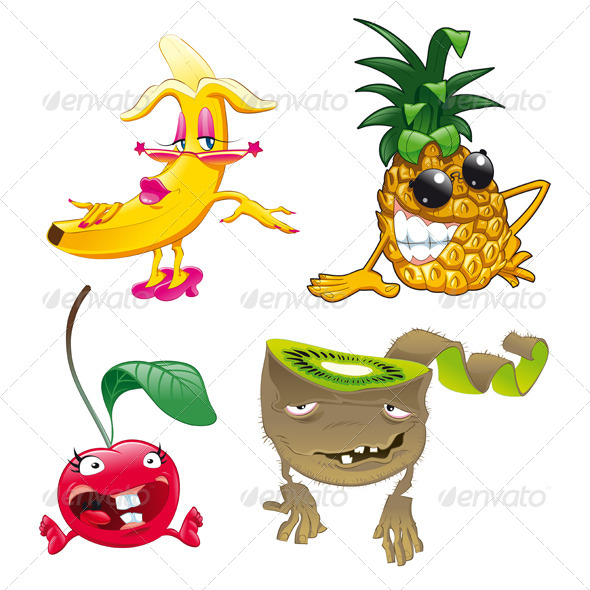 GraphicRiver Family of Funny Fruits 4638645