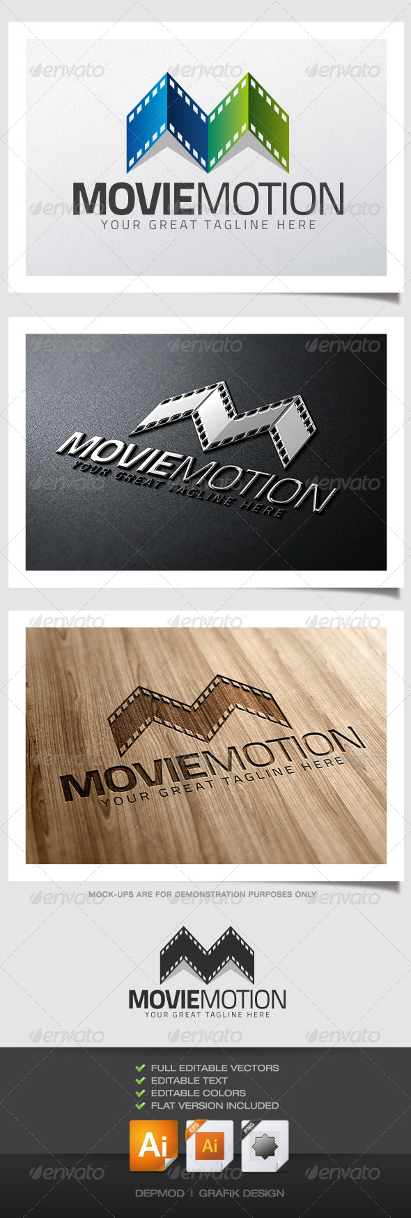 GraphicRiver Movie Motion Logo 4639395