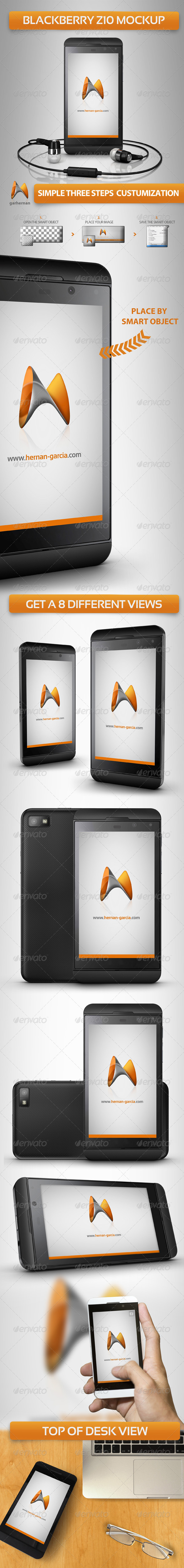 Blackberry Z10 Mock-Ups