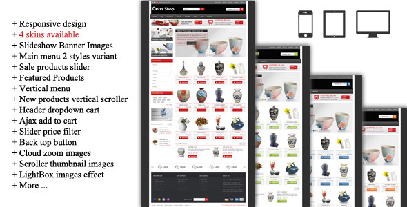 01 home.  large preview - CeraShop Responsive Magento Theme