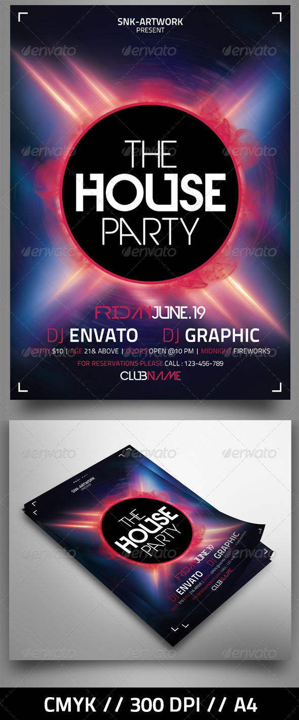 GraphicRiver The House Party 4639438