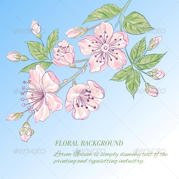 GraphicRiver Abstract Flower Background 4639536